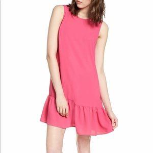 Halogen Drop Waist Pink Shift Dress - XL